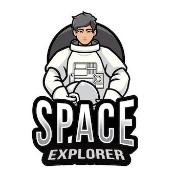 Modello di logo di space explorer