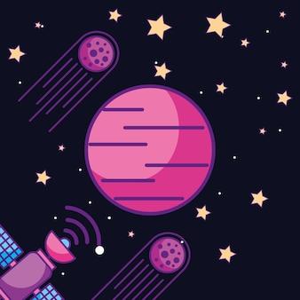 Carta galassia spaziale