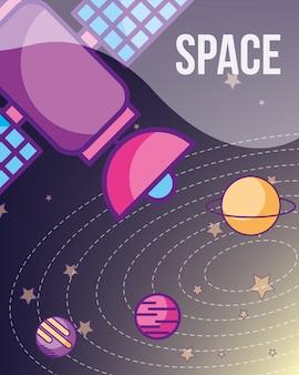 Carta cosmica galassia spaziale