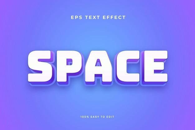 Effetto del testo del gioco spaziale