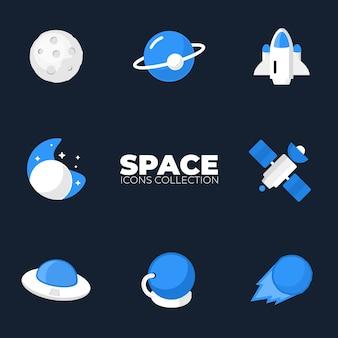 Collezione di icone dello spazio