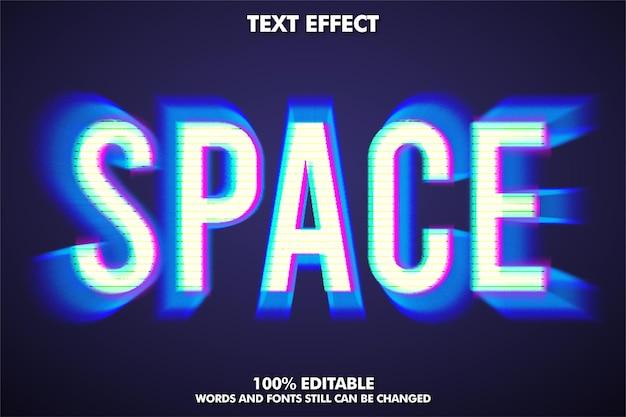 Spazio, stile di testo moderno con effetto zoom indietro