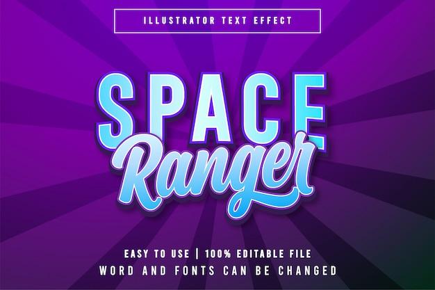 Space ranger gioco modificabile stile titolo effetto testo