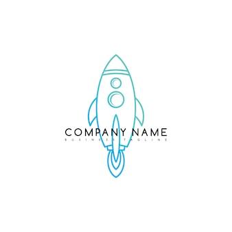 Navetta spaziale spaziale logo logo modello logotipo arte vettoriale