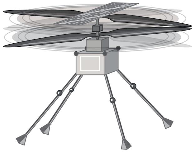 Satellite spaziale su sfondo bianco