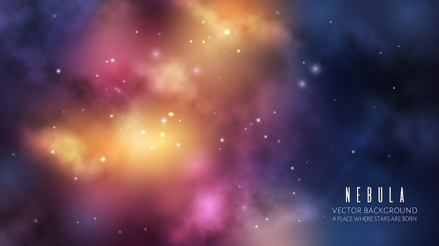 Spazio universo sullo sfondo