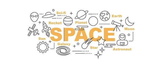 Banner di spazio vettoriale