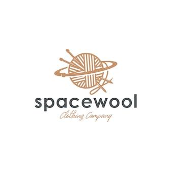 Modello di logo di lana spaziale