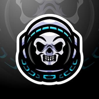 Spaceman esport logo mascotte design