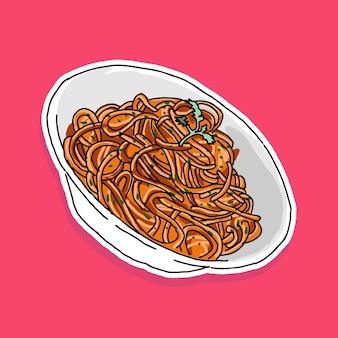 Disegno del fumetto degli spaghetti