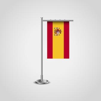 Disegno della bandiera della spagna con il vettore del supporto