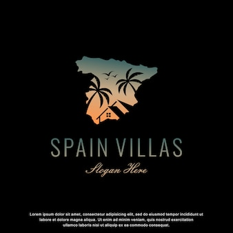 Ville spagna logo design moderno