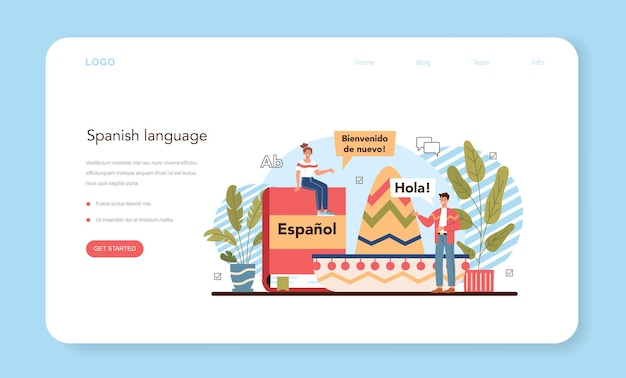 Concetto di apprendimento dello spagnolo scuola di lingua corso di spagnolo studio straniero