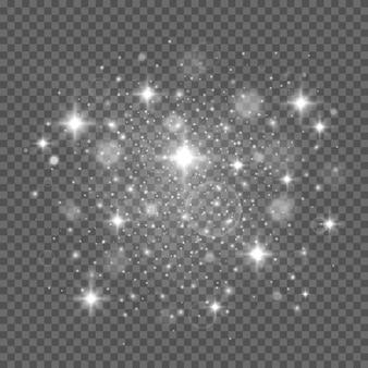 Particelle di polvere magica scintillante scintillano effetto luce speciale