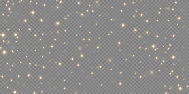 Polvere magica scintillante. su uno sfondo bianco e nero materico. celebrazione sfondo astratto di particelle di polvere scintillanti luce e argento e stelle. effetto magico. illustrazione festiva.