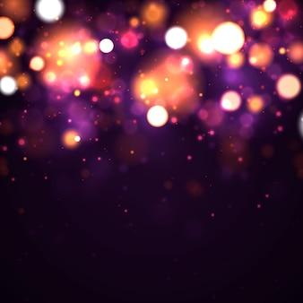 Particelle di polvere magica scintillante. sfondo astratto con effetto bokeh