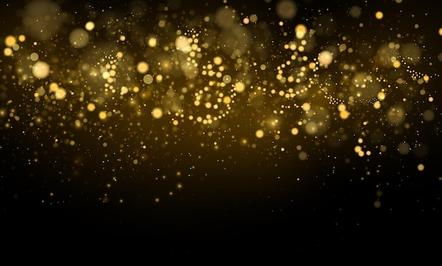 Particelle di polvere magiche scintillanti concetto magico sfondo astratto con effetto bokeh
