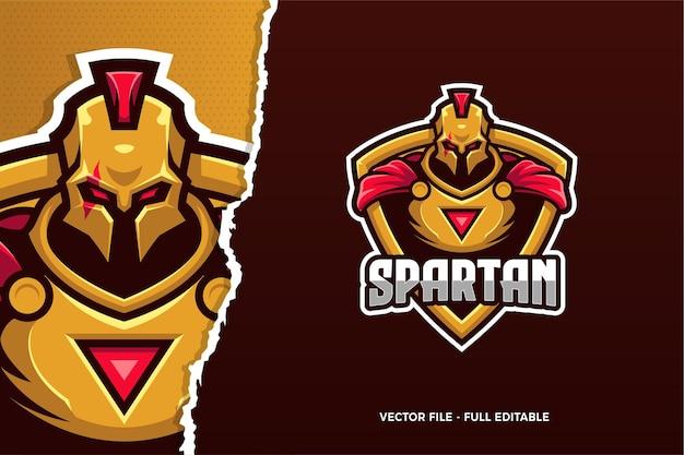 Modello di logo spartan e-sport