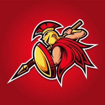 Spartan esport gaming logo