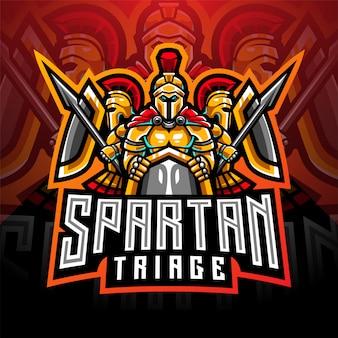 Spartan esport mascot logo design