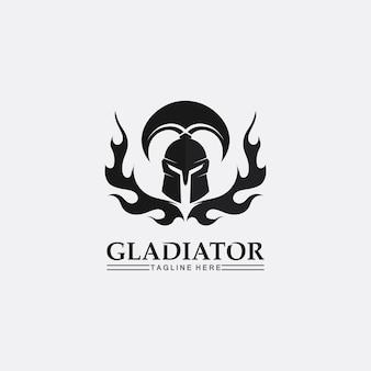 Elmo spartano, modello di logo del gladiatore