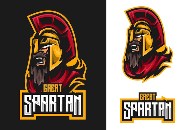 Mascotte spartano esport logo design