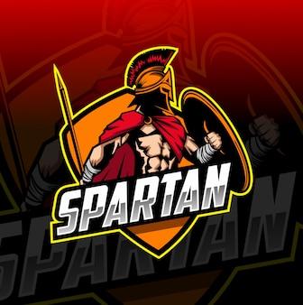 Logo esport mascotte spartano