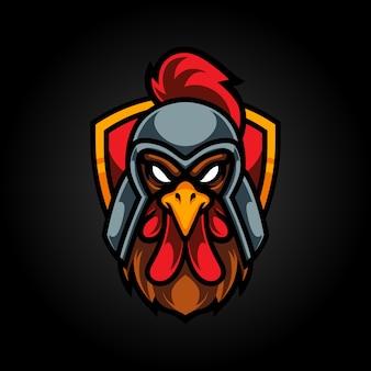 Logo della mascotte spartan roaster e sport