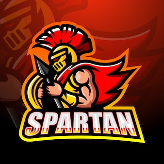 Illustrazione della mascotte del guerriero spartano