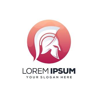 Spartano con design del logo del cerchio