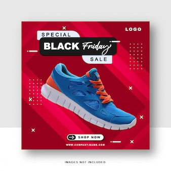 Social media speciale del black friday e modello di post di instagram
