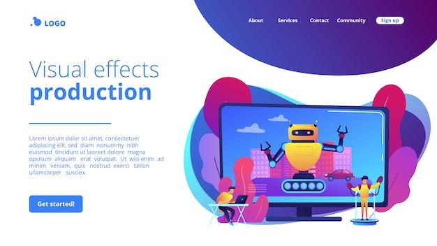 Pagina di destinazione del concetto di design di effetti speciali