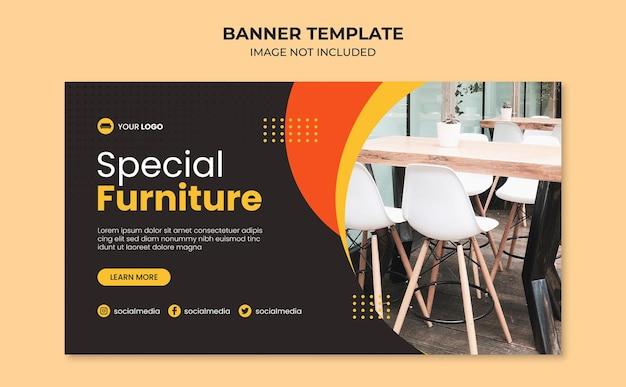 Modello di banner web per mobili speciali