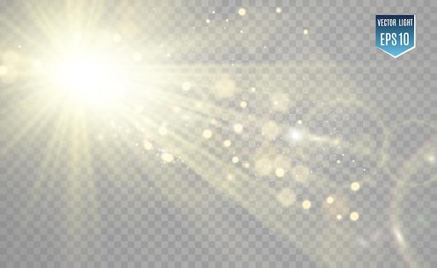 Effetto luce flash con lenti speciali