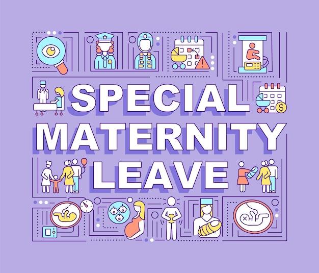 Banner di concetti di parola di congedo di maternità speciale