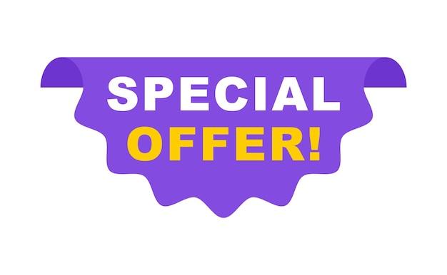 Offerta speciale banner super vendita segno