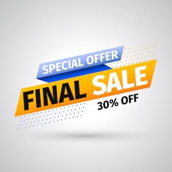 Banner di vendita finale di offerta speciale. illustrazione.