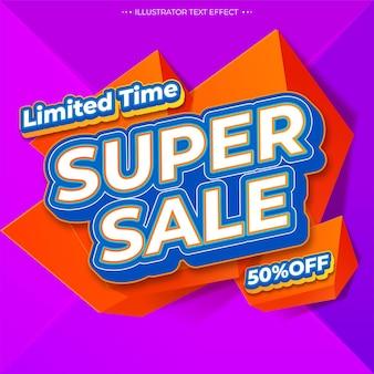Banner di vendita finale di offerta speciale
