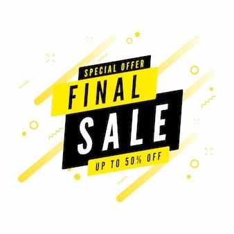 Offerta finale di vendita finale fino al 50% di sconto sul banner.