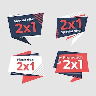 Collezione di etichette promozionali di offerta speciale