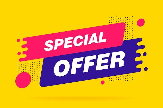 Banner di sconto di vendita di offerta speciale
