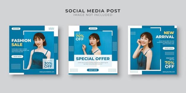 Modello di post sui social media in offerta speciale