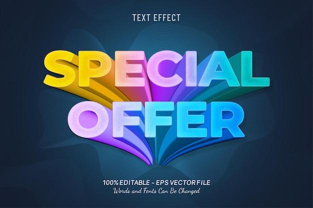 Effetto testo offerta speciale