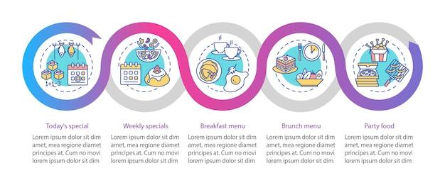 Modello di infografica con offerte speciali