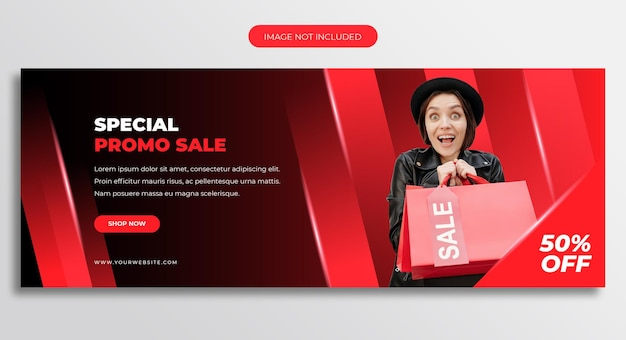 Modello di copertina della timeline di facebook di vendita promozionale speciale