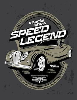 Leggenda speciale della velocità dello spettacolo, auto classica super veloce