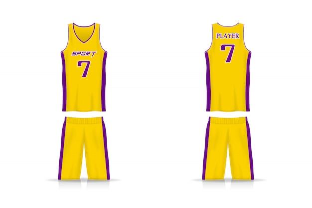 Specifiche basket modello di maglia e pantaloni corti.