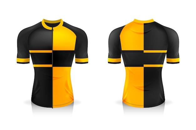 Specifica modello di maglia da ciclismo. t-shirt sportiva girocollo uniforme per abbigliamento da bicicletta.