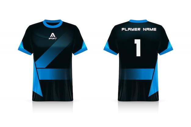 Specifica modello sport jersey, esports gaming t shirt jersey. uniforme. illustrazione