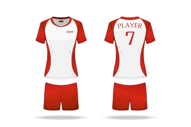 Jersey di pallavolo di specificazione isolato su fondo bianco
